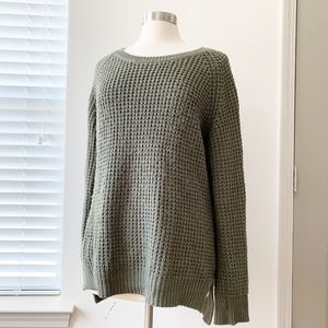 Olive & Oak Knit Green Sweater Medium Baldwin